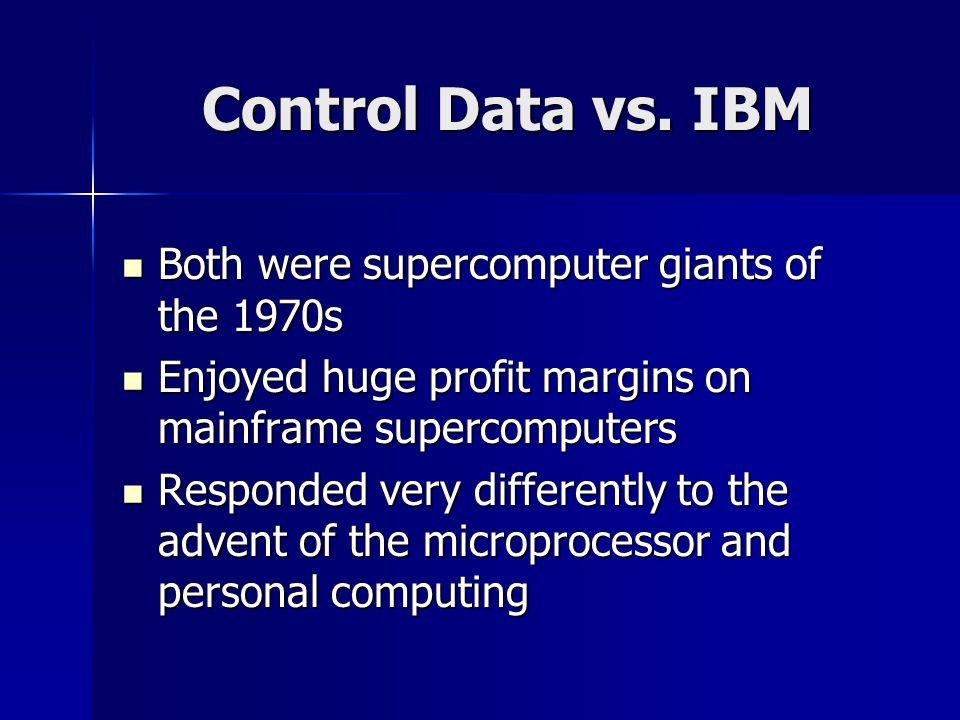 Control Data vs.