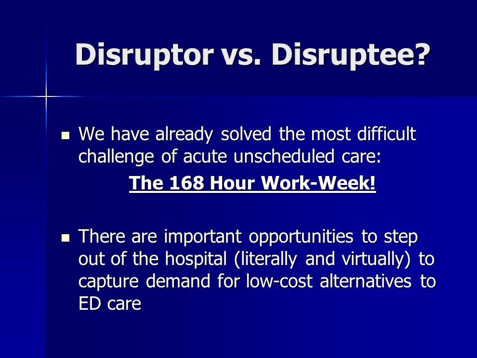 Disruptor vs. Disruptee.