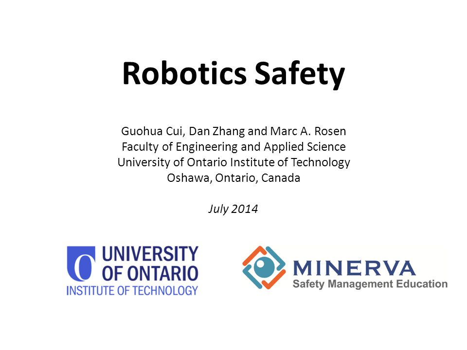 1.Introduction to robotics safety 2. Types of robots & industrial robots 3.