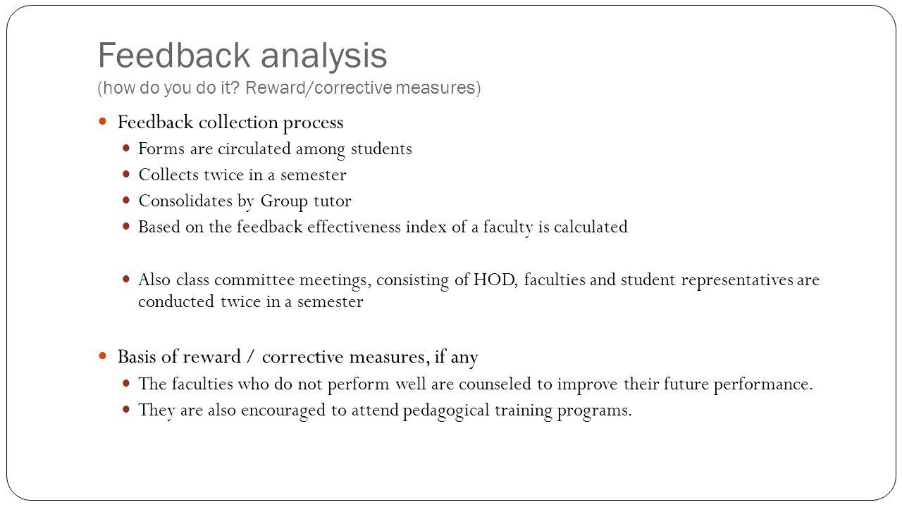 Feedback analysis (how do you do it.
