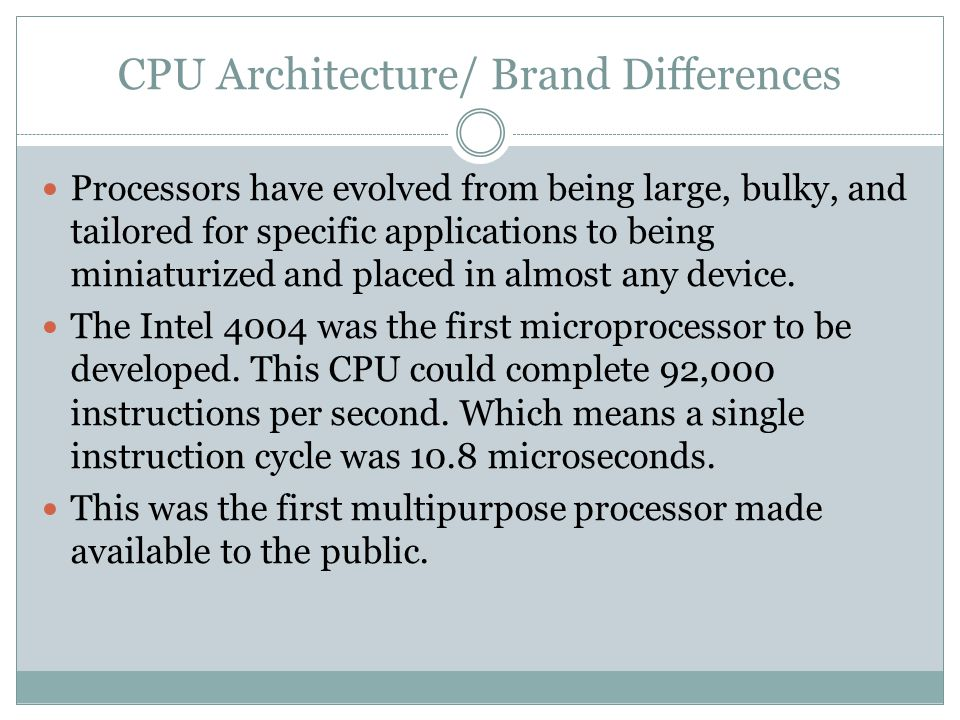 Processors have evolved from being large, bulky, and tailored for specific applications to being miniaturized and placed in almost any device.
