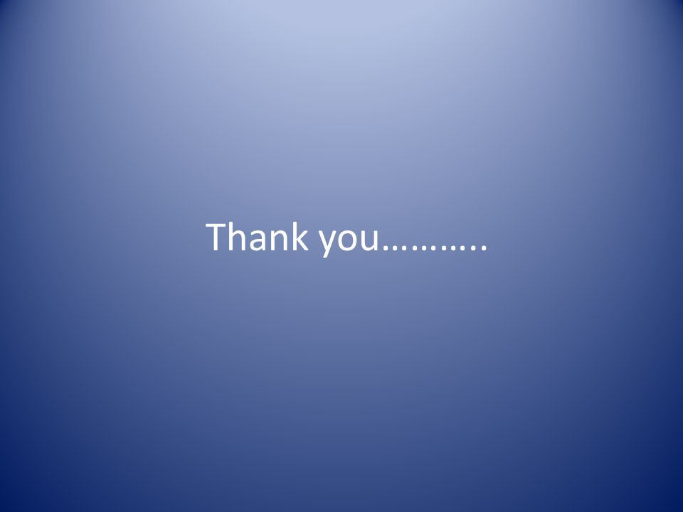 Thank you………..