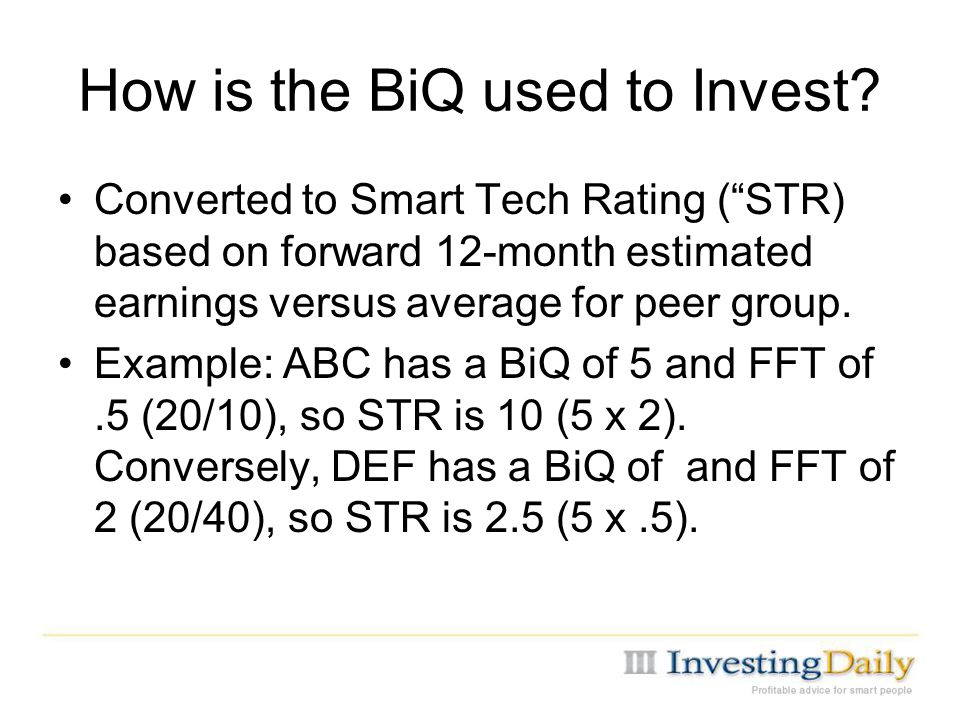 How is the BiQ used to Invest.