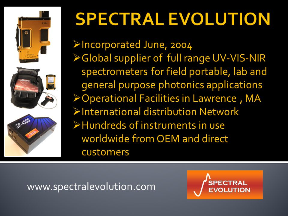 Proprietary and Confidential Information  Spectral Evolution, Inc.