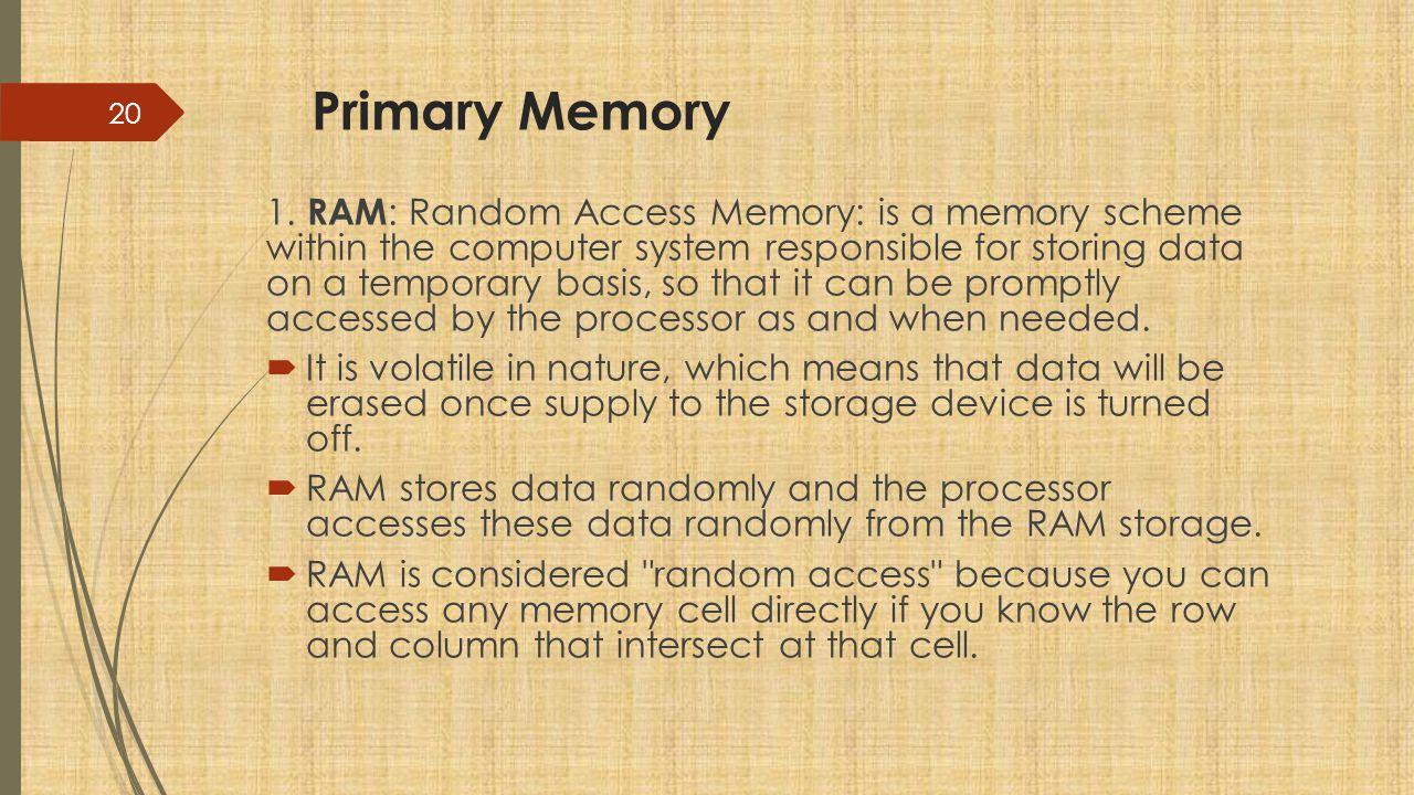 Primary Memory 1.