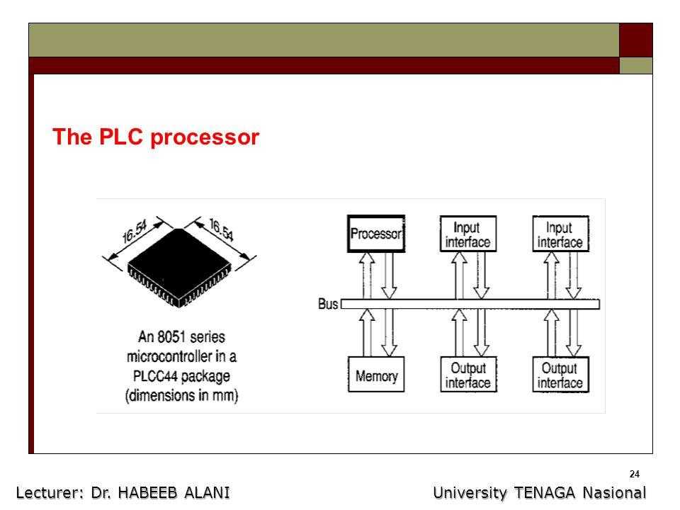 24 The PLC processor Lecturer: Dr. HABEEB ALANI University TENAGA Nasional