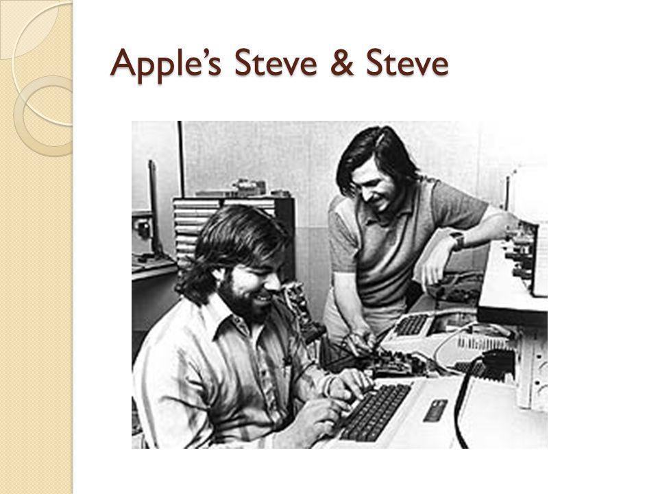 Apple's Steve & Steve