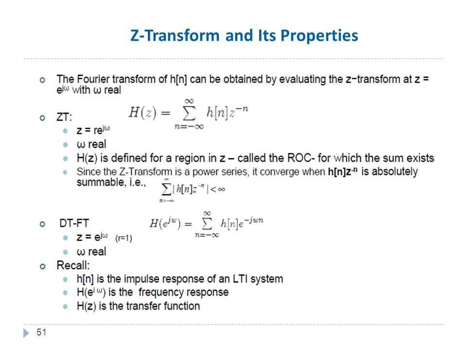 51 Z-Transform and Its Properties