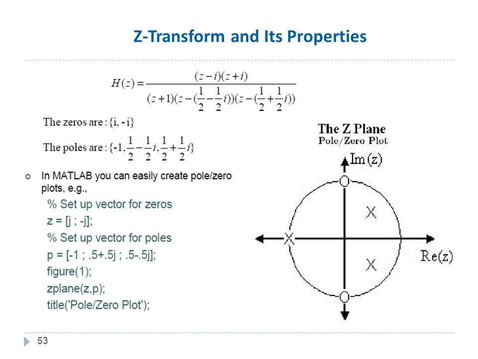 53 Z-Transform and Its Properties