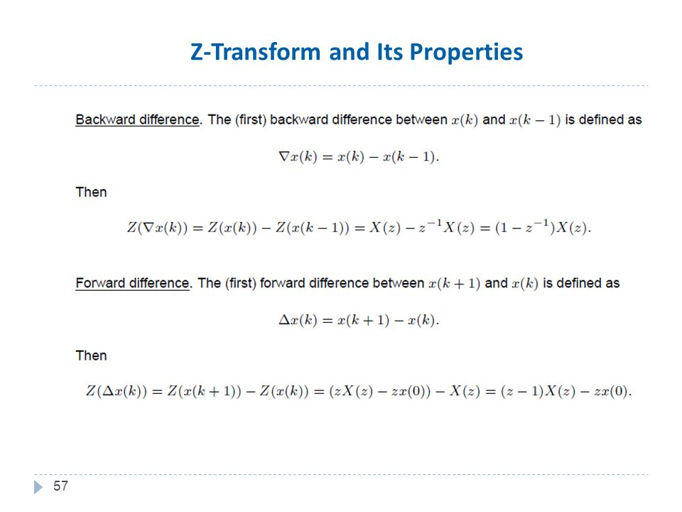 57 Z-Transform and Its Properties