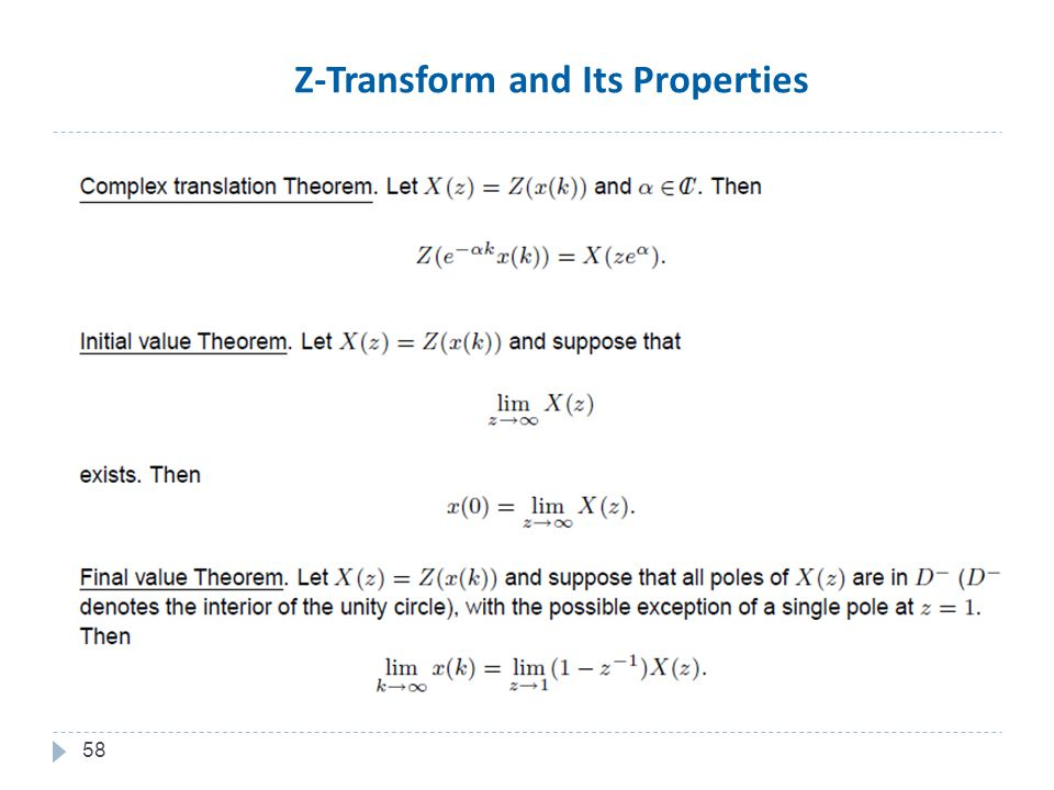 58 Z-Transform and Its Properties