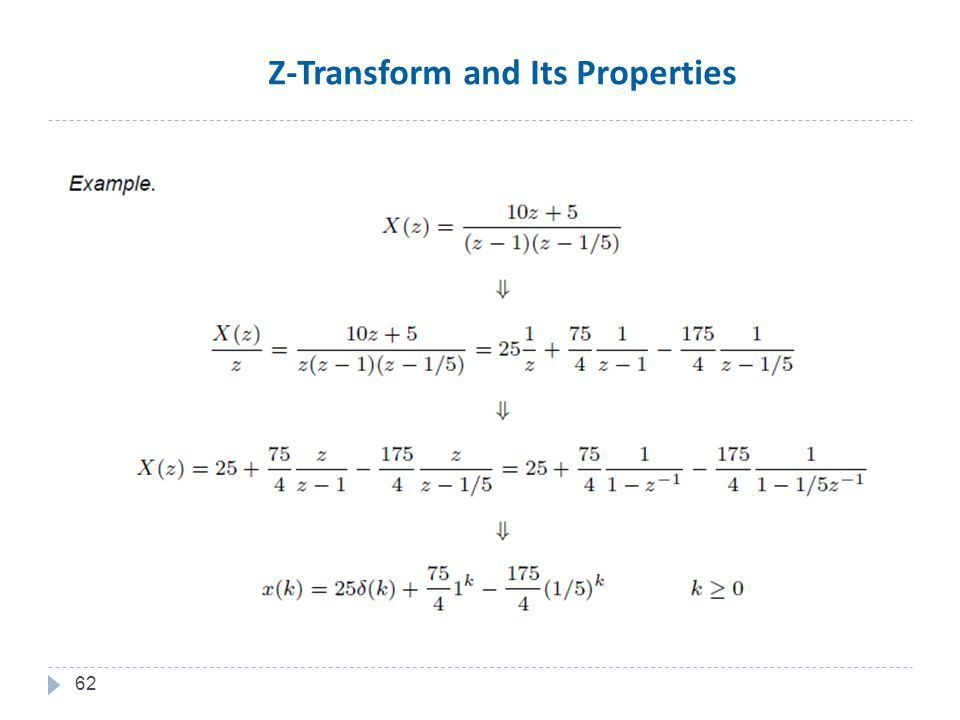 62 Z-Transform and Its Properties