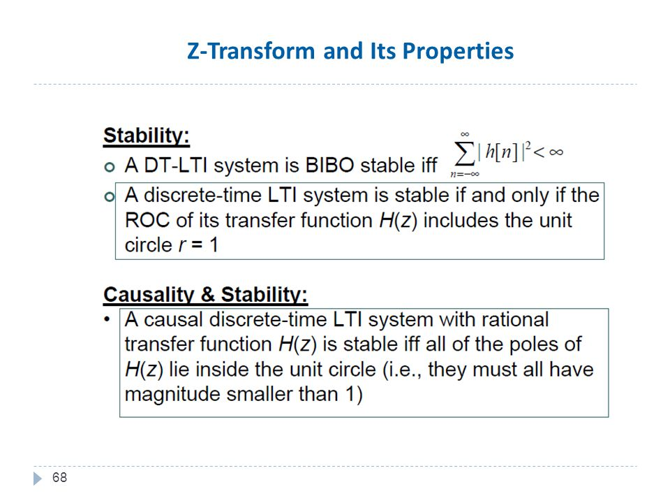 68 Z-Transform and Its Properties