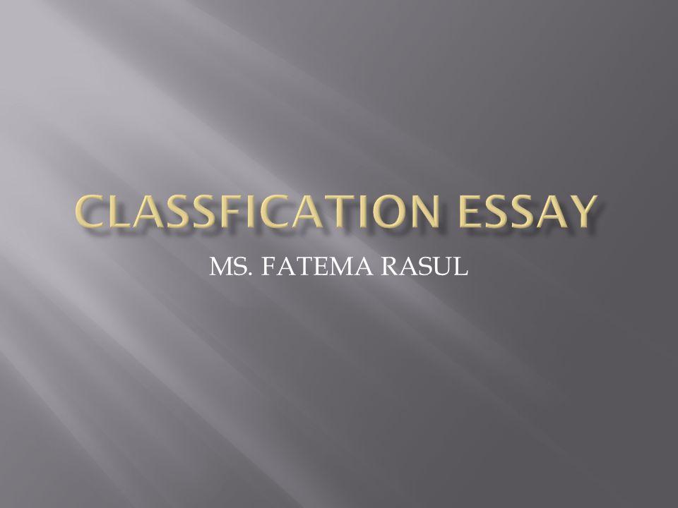 MS. FATEMA RASUL