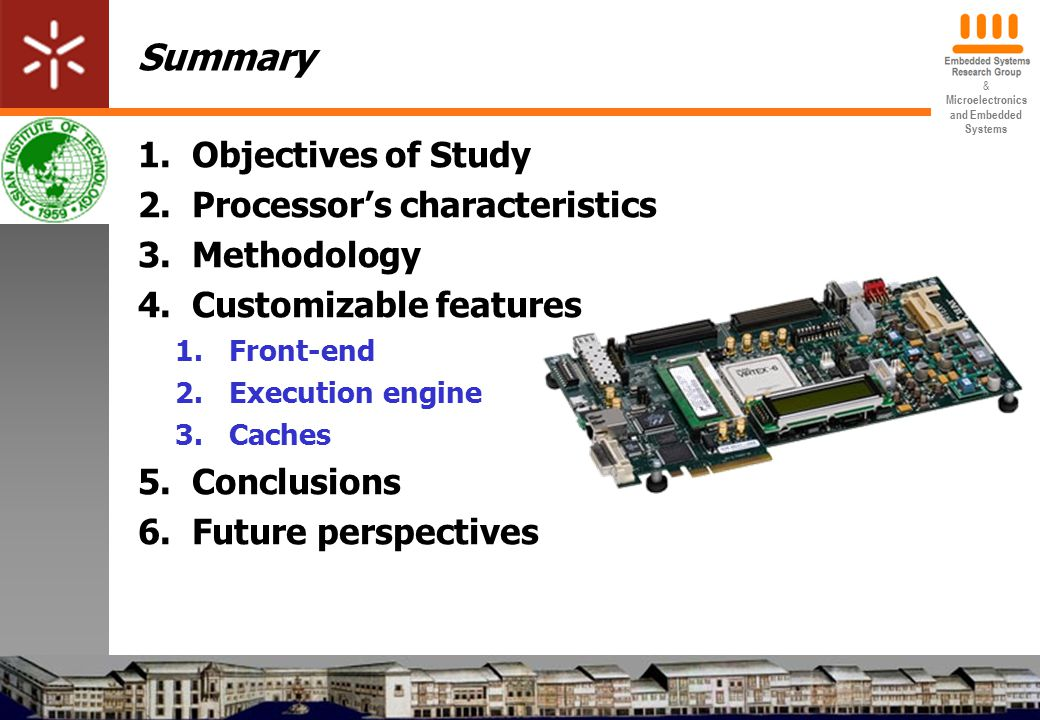 & Microelectronics and Embedded Systems 3.