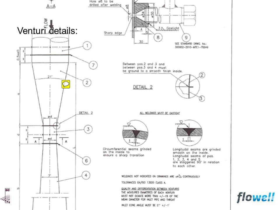 Venturi details: