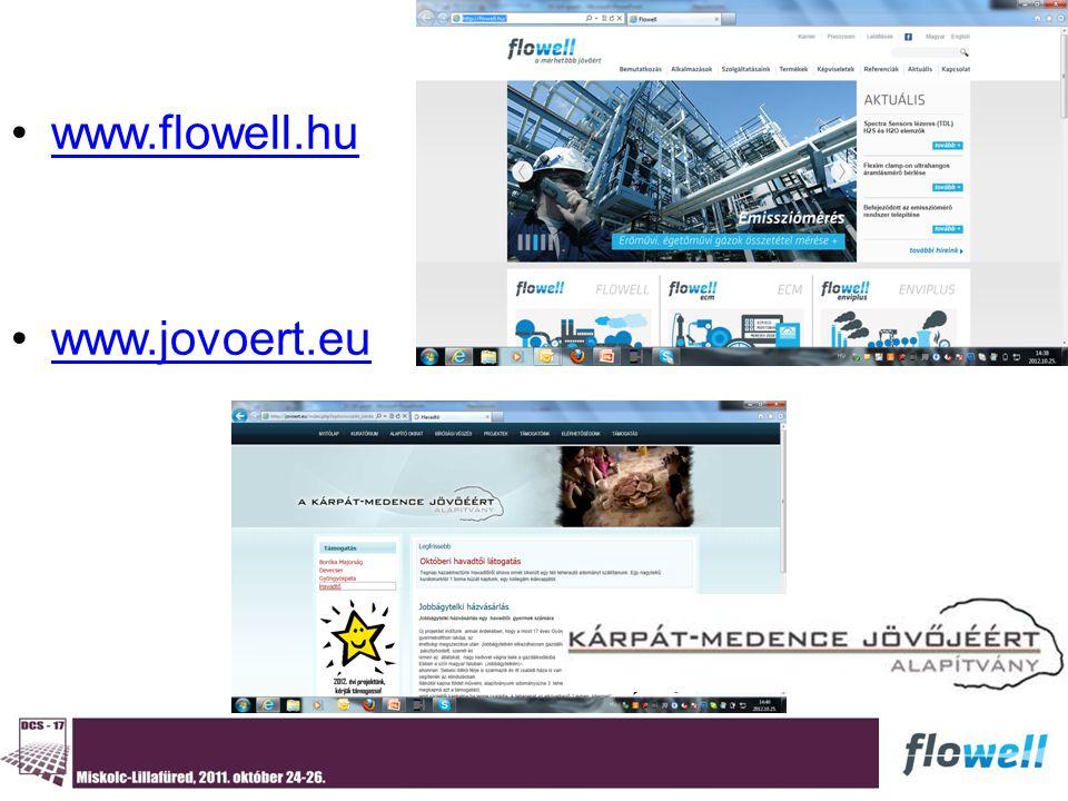 www.flowell.hu www.jovoert.eu