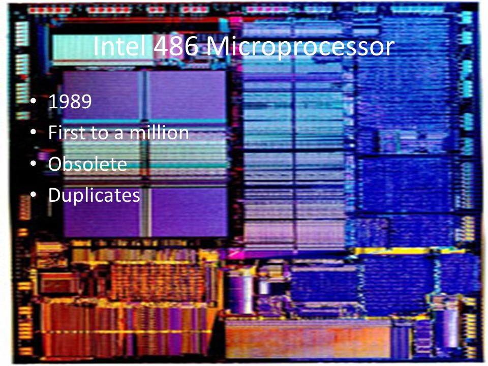 Intel 486 Microprocessor 1989 First to a million Obsolete Duplicates