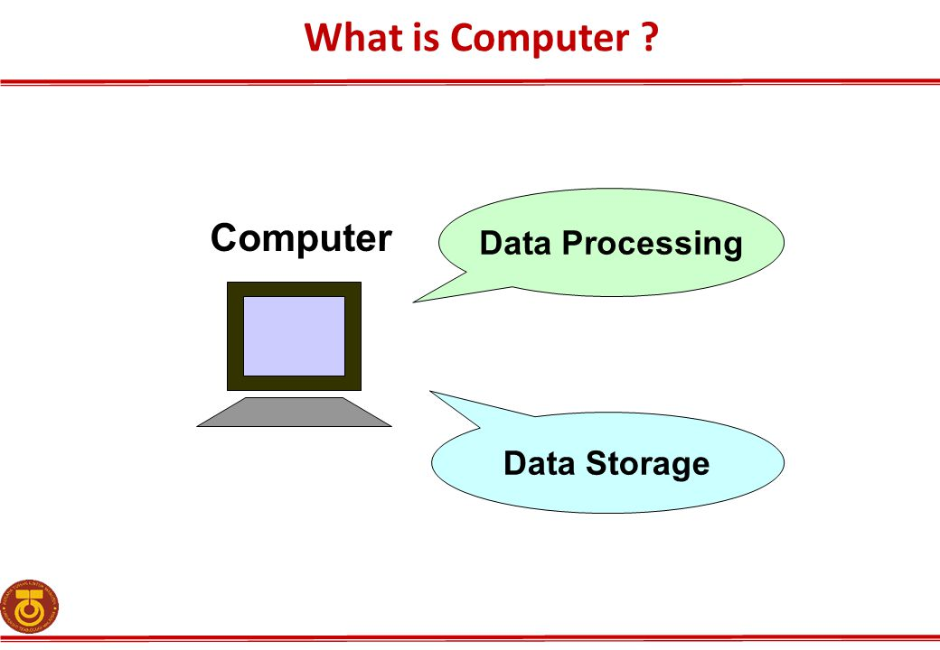 Computer Data Processing Data Storage What is Computer ?