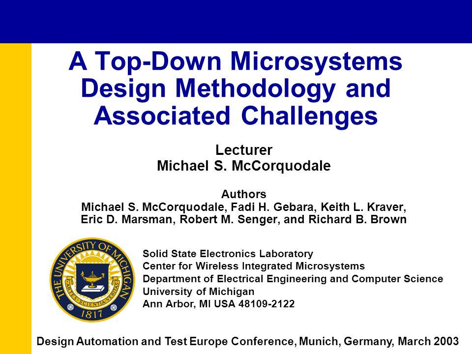 Lecturer Michael S. McCorquodale Authors Michael S.