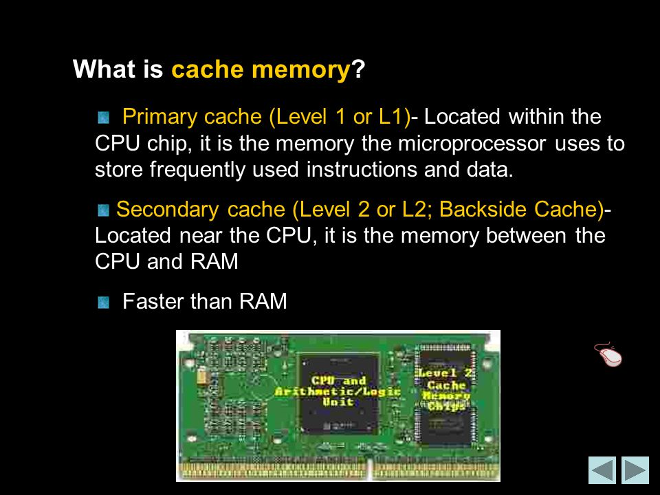 What is cache memory.