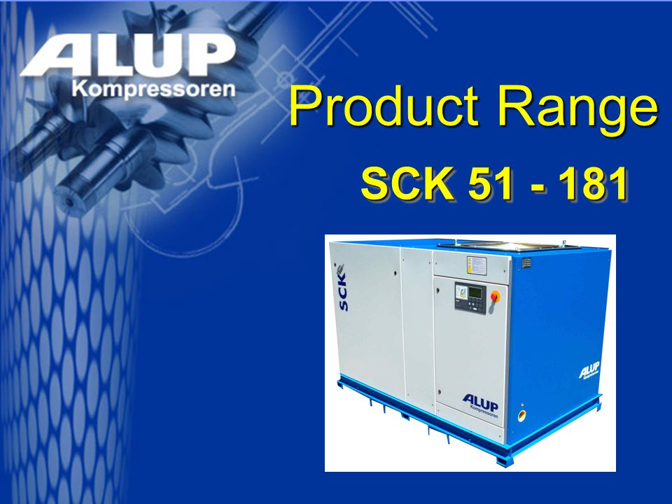 SCK 51 - 181 Vibration Damping It goes without saying that all Compressors are multiple vibration damped: –Compressor unit against base frame –Base frame against ground That means for you:  No transfer of structure-borne noise  Vibrations have no chance  Foundation free installation  Installation direct at the manufacturing shop
