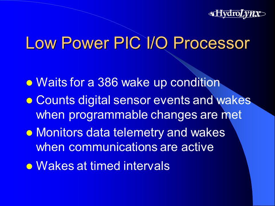 Input/Output Support 16 (16-bit) analog inputs 12 digital status inputs 4 low speed pulse inputs 4 high speed pulse inputs (wind) 8 digital control outputs SDI-12 sensor interface