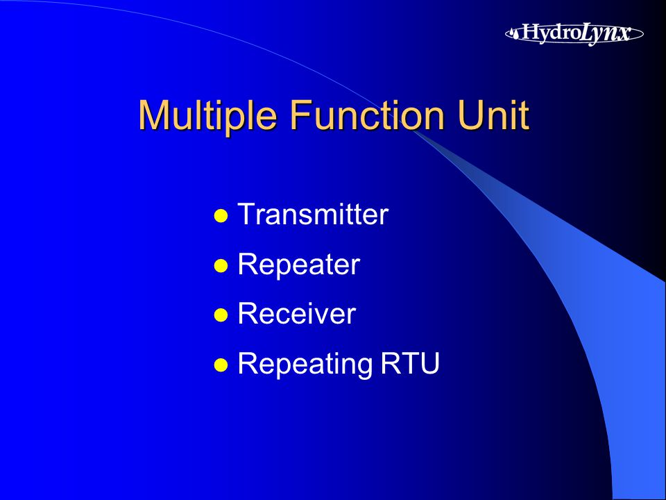 Multiple Function Unit Transmitter Repeater Receiver Repeating RTU