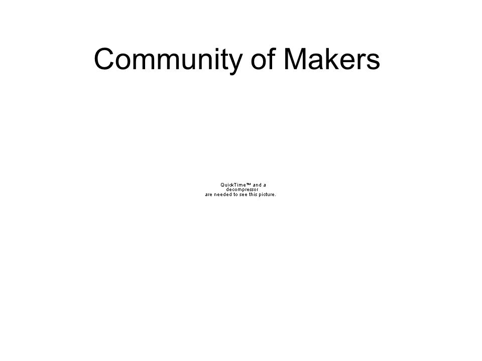 Community of Makers