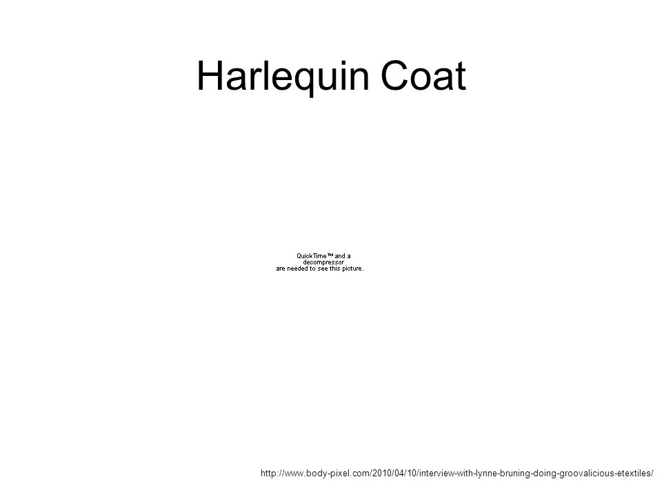http://www.body-pixel.com/2010/04/10/interview-with-lynne-bruning-doing-groovalicious-etextiles/ Harlequin Coat
