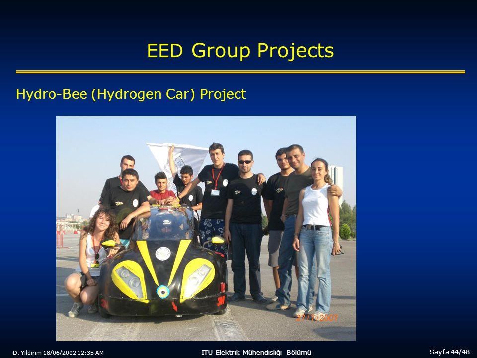 D. Yıldırım 18/06/2002 12:35 AM Sayfa 44/48 ITU Elektrik Mühendisliği Bölümü EED Group Projects Hydro-Bee (Hydrogen Car) Project