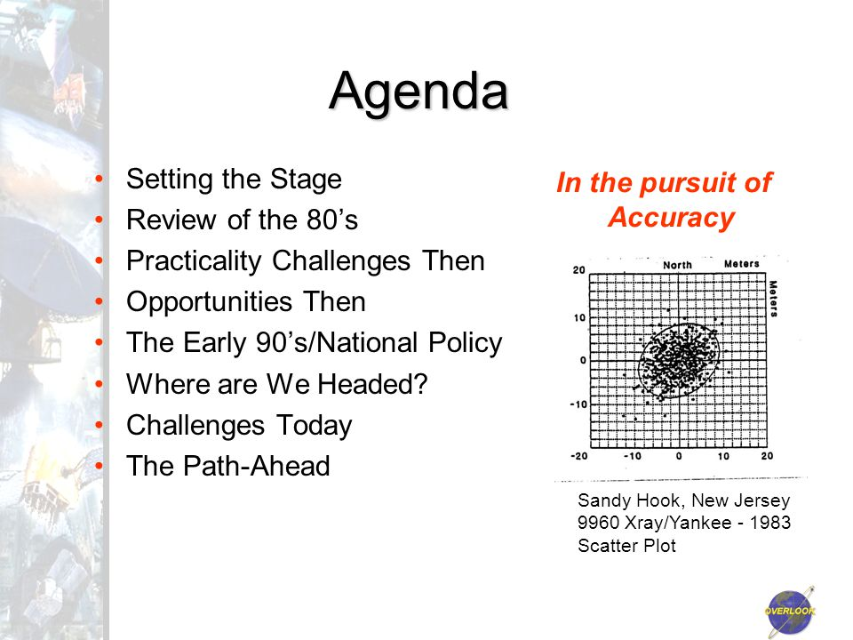 Agenda Setting the Stage Review of the 80's Practicality Challenges Then Opportunities Then The Early 90's/National Policy Where are We Headed.