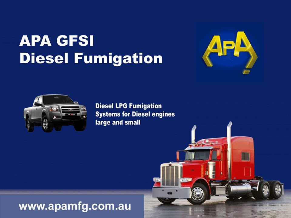APA The choice of car manufacturers worldwide Diesel Fumigation Introduction Not a new concept, Just new technology - Diesel engine Characteristics - Rudolf Diesel theory on fumigation - Problems in control - Diesel fumigation - Diesel Substitution Rudolf Diesel - Diesel fumigation is not Diesel substitution
