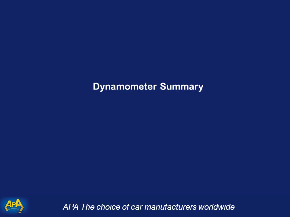 APA The choice of car manufacturers worldwide Dynamometer Summary