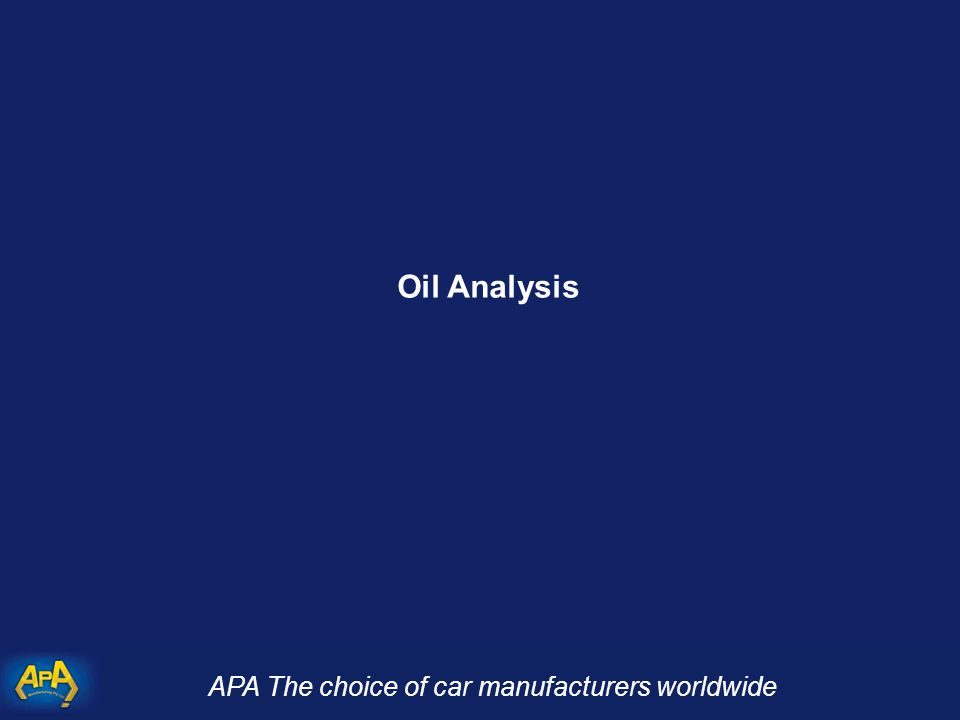 APA The choice of car manufacturers worldwide Oil Analysis