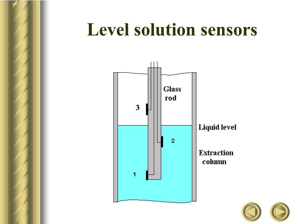 Level solution sensors