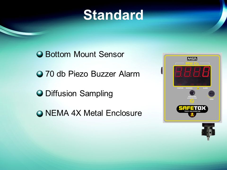 Standard Bottom Mount Sensor 70 db Piezo Buzzer Alarm Diffusion Sampling NEMA 4X Metal Enclosure