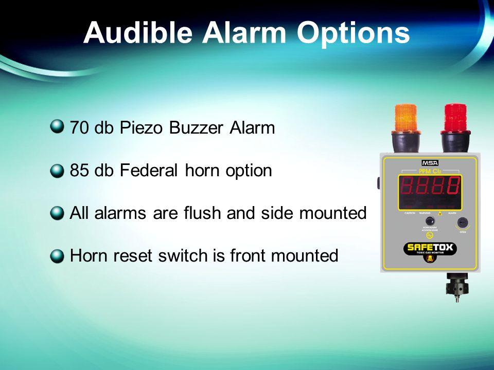 SD2 Bottom Mount Sensor 70 db Piezo Buzzer Alarm Diffusion Sampling No Internal Relays NEMA 4X Metal Enclosure Class I, Division 2 Groups B,C,D