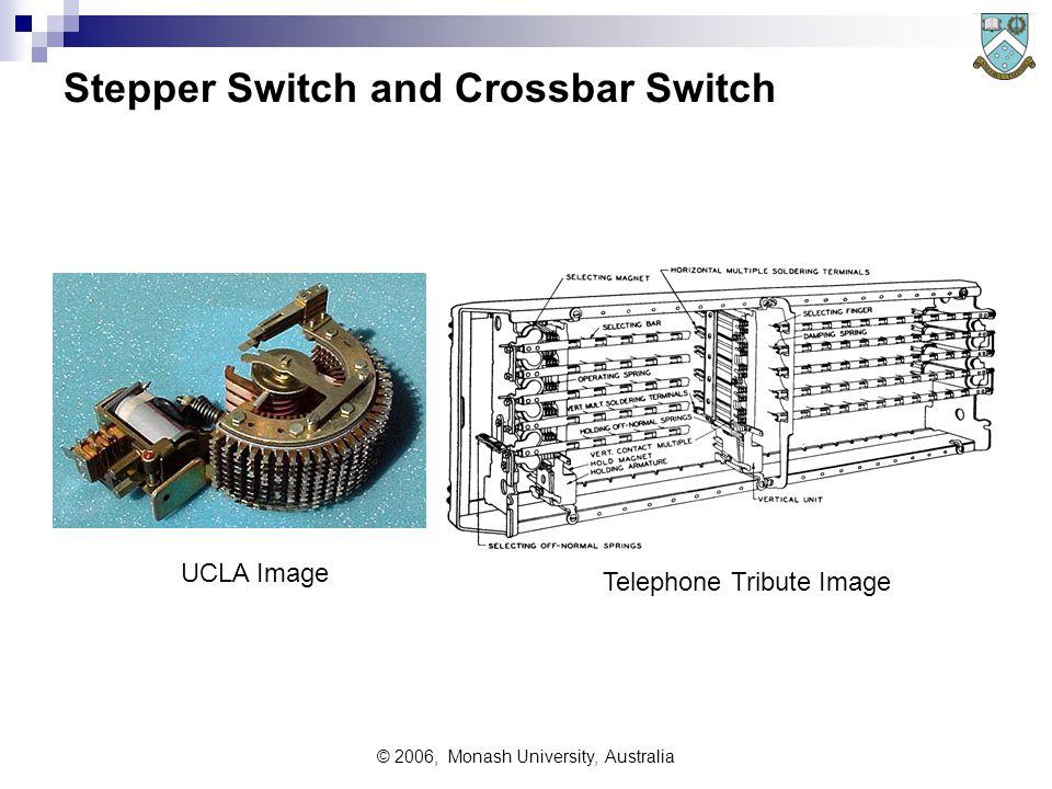 © 2006, Monash University, Australia Stepper Switch and Crossbar Switch UCLA Image Telephone Tribute Image