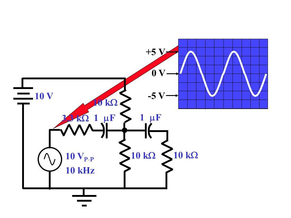 +5 V 0 V -5 V 10 V 10 V P-P 10 kHz 10 k  3.3 k  1  F