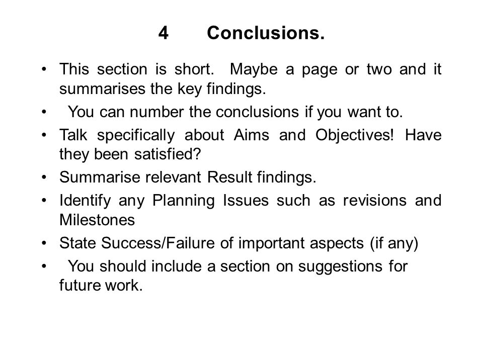 4Conclusions. This section is short. Maybe a page or two and it summarises the key findings.