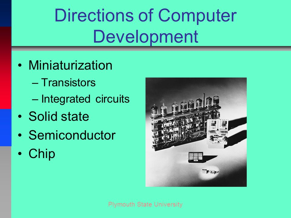Plymouth State University Integrated Circuit IC, or chip Made from Silicon Includes Transistors, Resistors & Capacitors