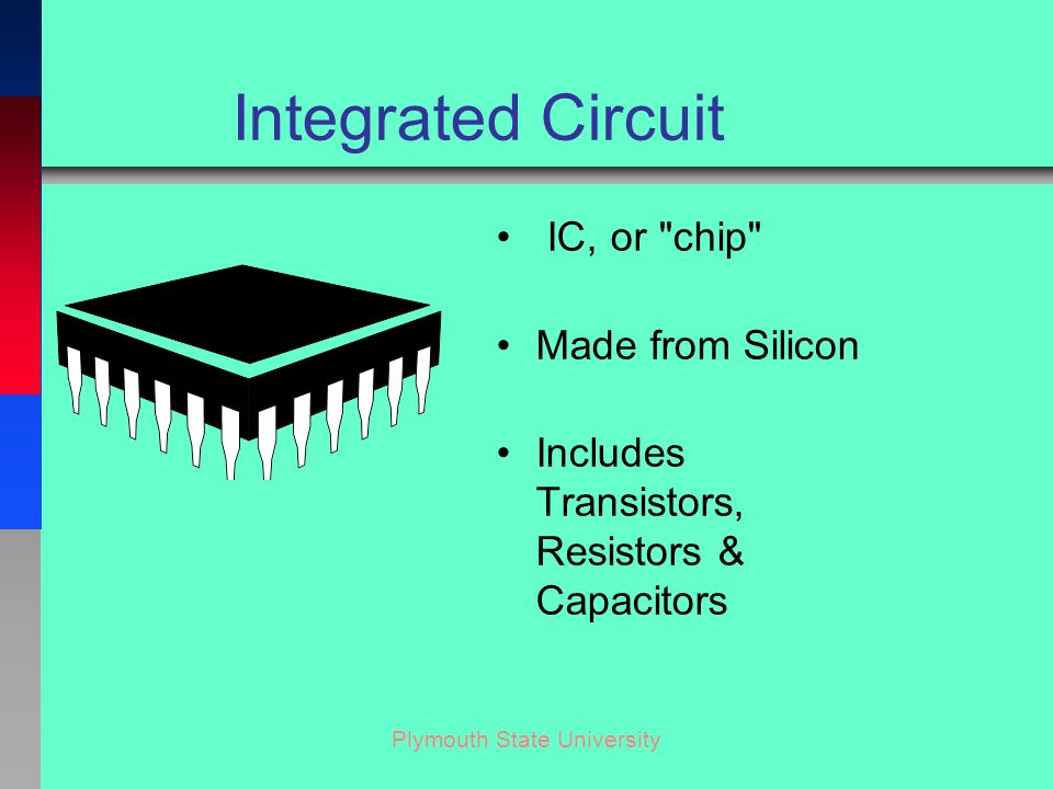 Plymouth State University Steps in Manufacture of a Microchip 1 Make large drawing.