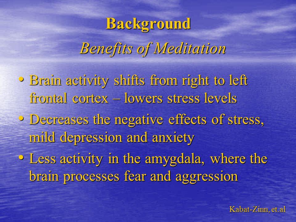 Beta State Beta State – 13 – 40 Hz – Alertness, Concentration, Cognition Alpha State Alpha State – 8 – 13 Hz – Relaxation, Visualization, CreativityBackground Meditation States