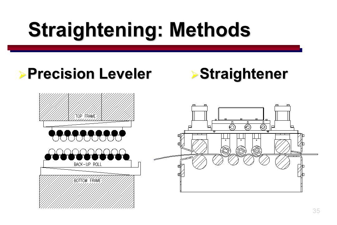 35  Precision Leveler  Straightener Straightening: Methods