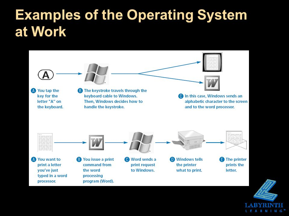 Examples of the Operating System at Work