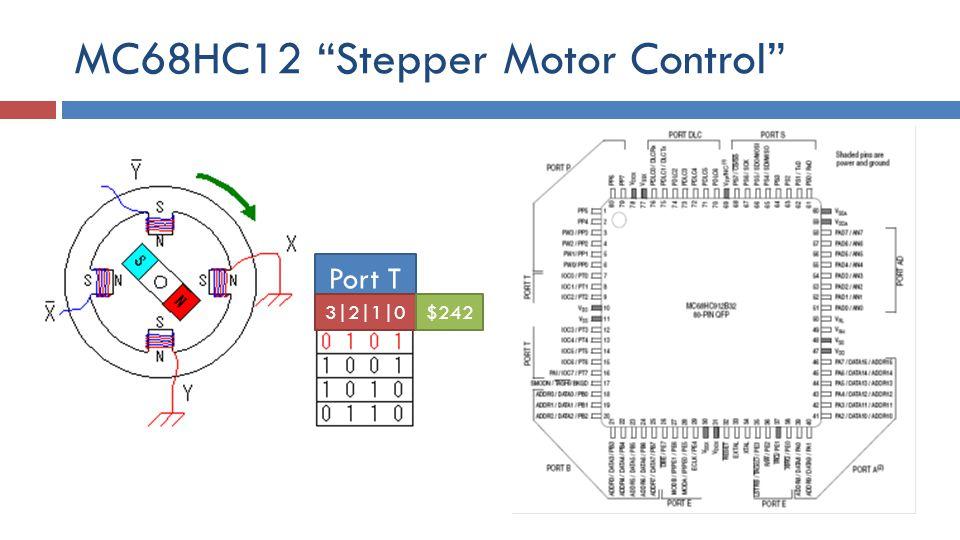 MC68HC12 Stepper Motor Control Port T 3|2|1|0$242