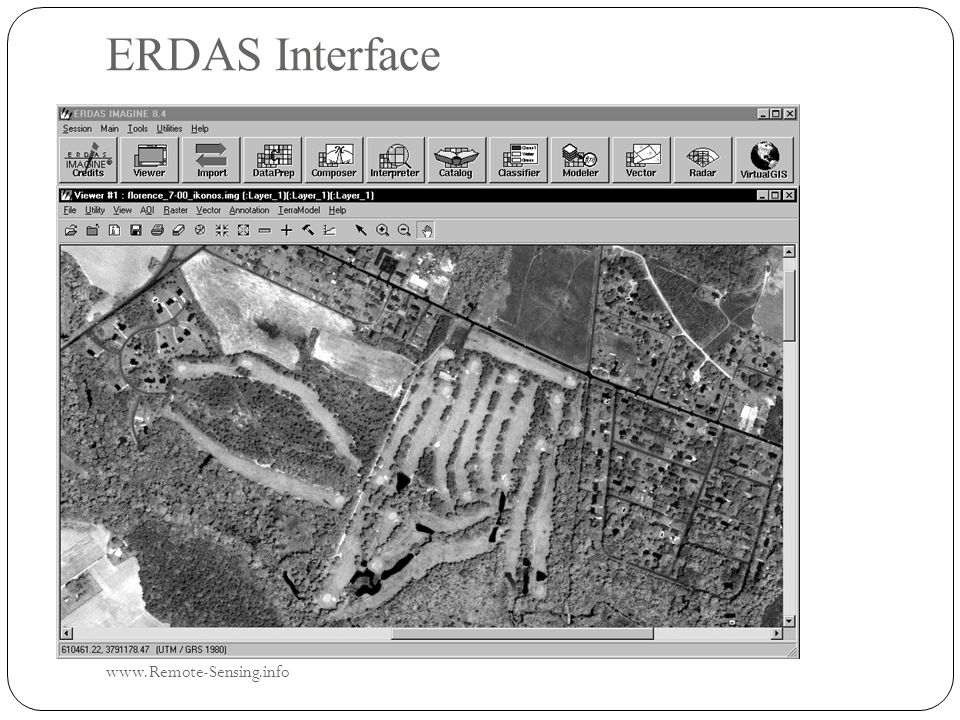 ERDAS Interface www.Remote-Sensing.info