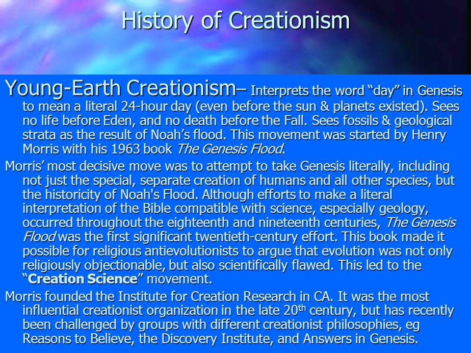 History of Creationism fmi see Ron Numbers' book, The Creationists 1855-1900 – Universal acceptance of Geology among scientists & clerics (ie no publi