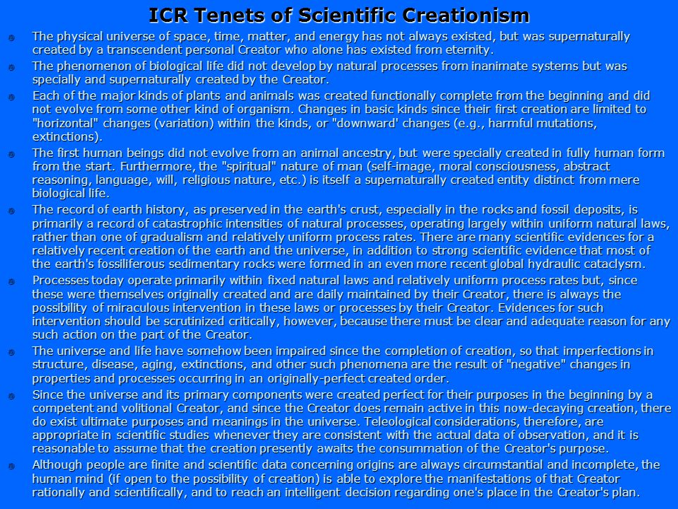 Is it Science? A relatively recent inception of the earth and living kinds CriterionYes/No CriterionYes/No Based on reductionist explanations Maybe Us